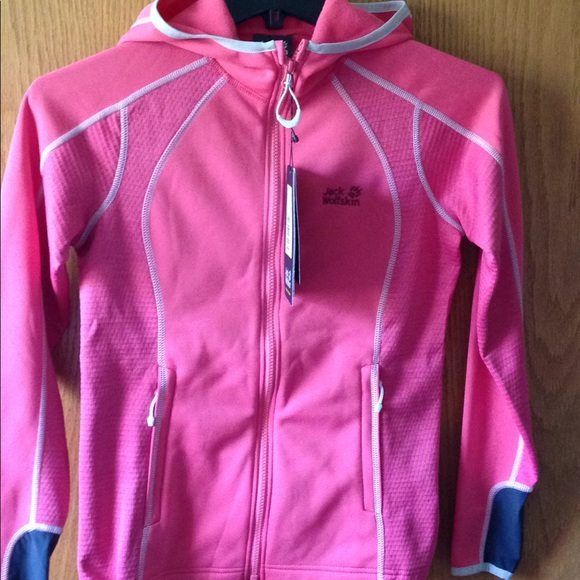 New women's jack wolfskin fjord jacket xs pink NWT